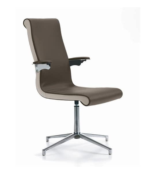 sedia per ufficio in poliuretano braccioli a sospensione