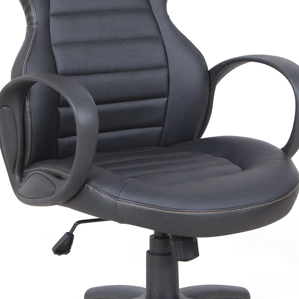 Poltrona presidenziale racing sedia sportiva gaming – SU092RAC, Sedia direzionale in simil-pelle, con braccioli
