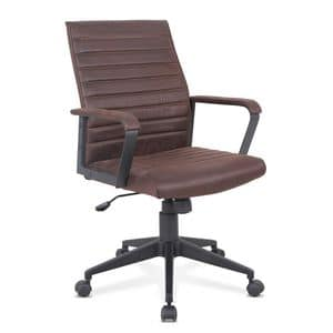 Poltrona ufficio sedia ecopelle ergonomica Linear � SU001LIN, Sedia ergonomica in eco-pelle, robusta, per ufficio