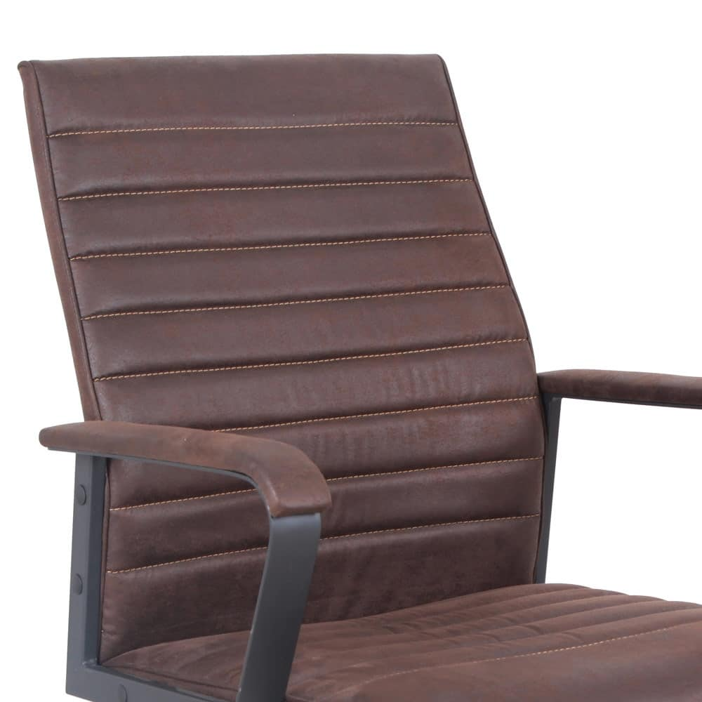 Poltrona ufficio sedia ecopelle ergonomica Linear – SU001LIN, Sedia ergonomica in eco-pelle, robusta, per ufficio
