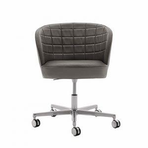 Rose 03036, Sedia per ufficio con rotelle, con schienale trapuntato