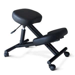 Sedia sgabello ortopedica ergonomica � PN100GAS, Sedia da ufficio, ortopedica, confortevole e pratica