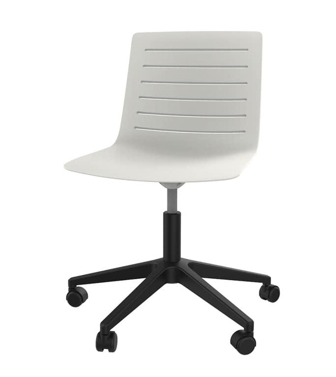 Sedie Da Ufficio Plastica.Sedia Per Ufficio In Polipropilene Con Razza In Plastica Idfdesign