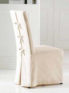 Sedia vestita imbottita rivestimento in tessuto e cuoio for Sedie vestite