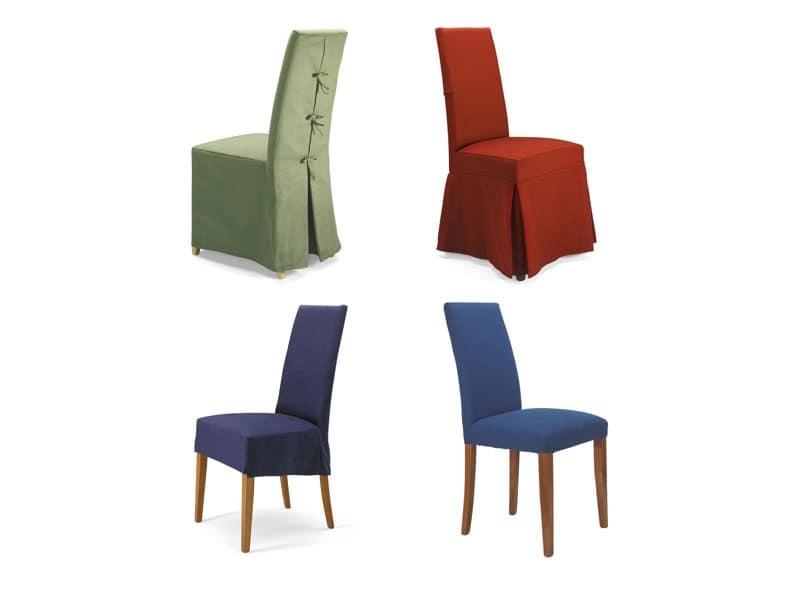 Sedia in faggio imbottita rivestimento sfoderabile for Rivestimento sedie