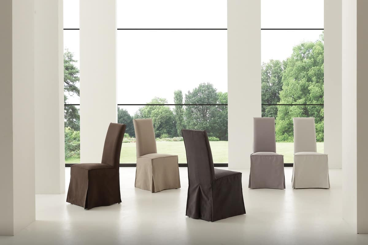 Fodera in cotone per sedie da pranzo idfdesign for Sedie imbottite per sala da pranzo