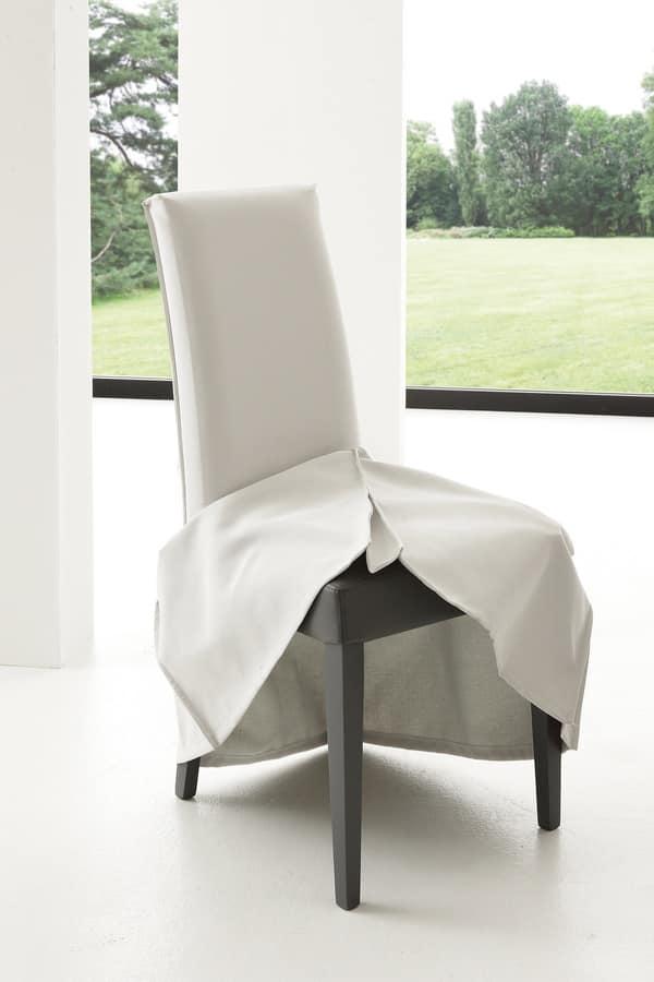Elegant art cover fodera in cotone per sedie da pranzo for Sedie vestite