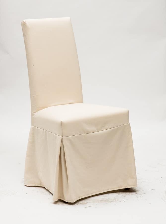 sedia vestita per sala da pranzo in cotone idfdesign