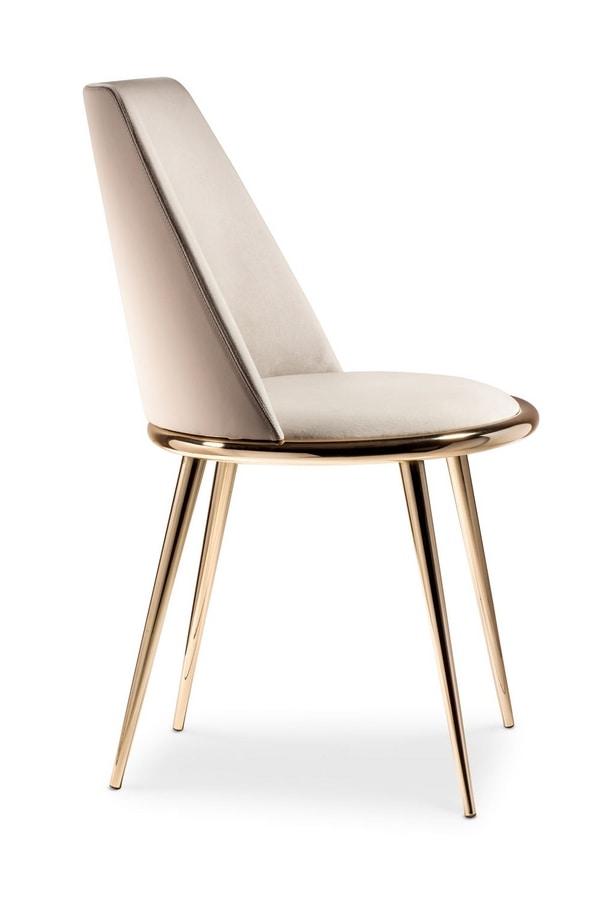 Sedia completamente vestita sfoderabile imbottita for Sedia design minimal