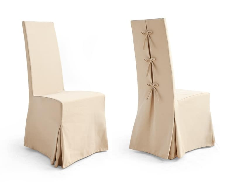 Sedia con gonna in tessuto bellini per sala ricevimenti for Sedie vestite
