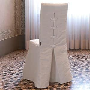 Sedia tessuto sfoderabile pliss for Sedie vestite design