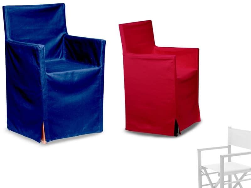 Rivestimento in tessuto per sedia regista per catering for Sedie vestite