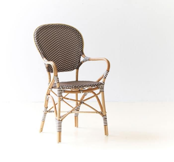 Paris - Ines P, Sedia intrecciata, impilabile, in rattan, per albergo