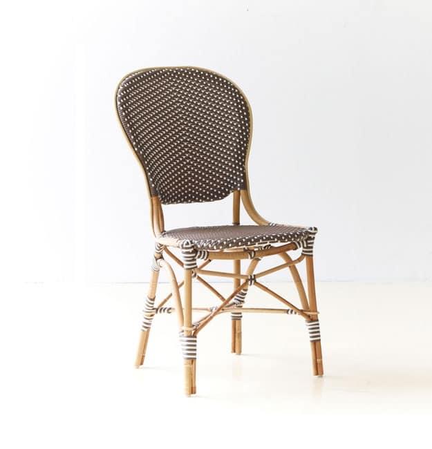 Sedia In Vimini Con Cuscino Per Caffetterie E Birrerie