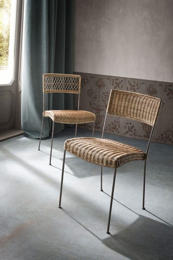 Sedia Design Vimini.Sedia In Midollino Intrecciato Idfdesign