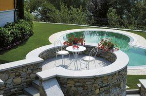 2088, Set da giardino, con sedia e tavolino, in ferro zincato
