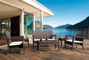 Creta Set, Set arredo per esterno, ideale per bar sulla spiaggia