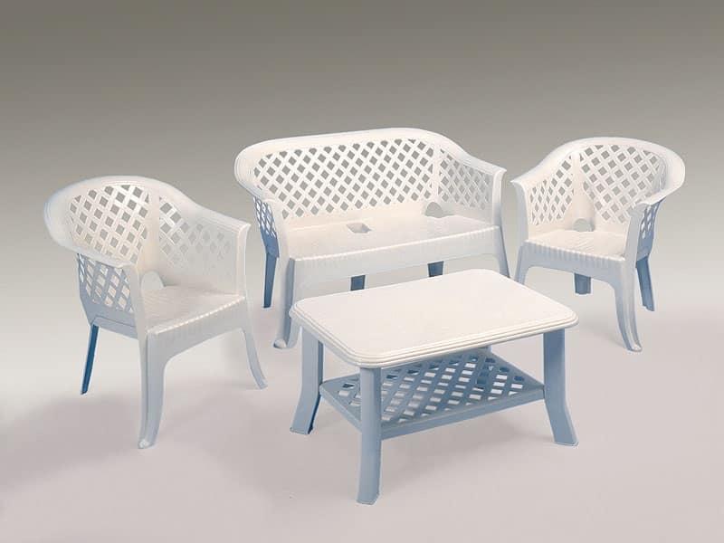 Divani Per Esterni In Plastica : Divano e poltrone da giardino in resina idfdesign