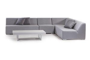 MIKONOS SET, Set giardino con divano modulare in gomma
