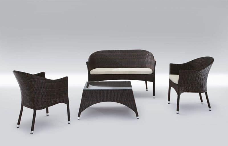 Seduta e tavolo moderno per uso esterno patio idfdesign - Tavolo barocco moderno ...