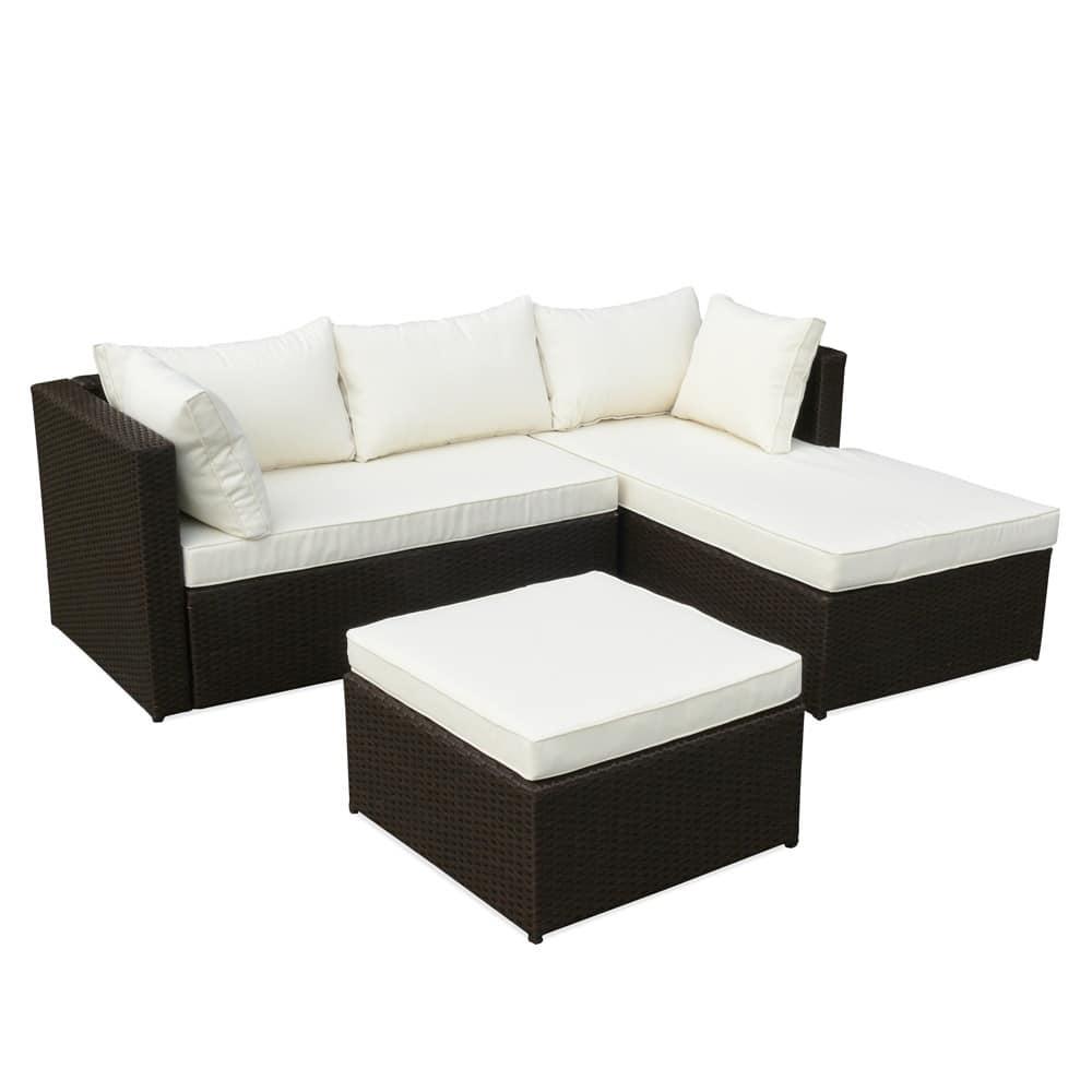 Divano angolare per esterni, con comodi cuscini | IDFdesign