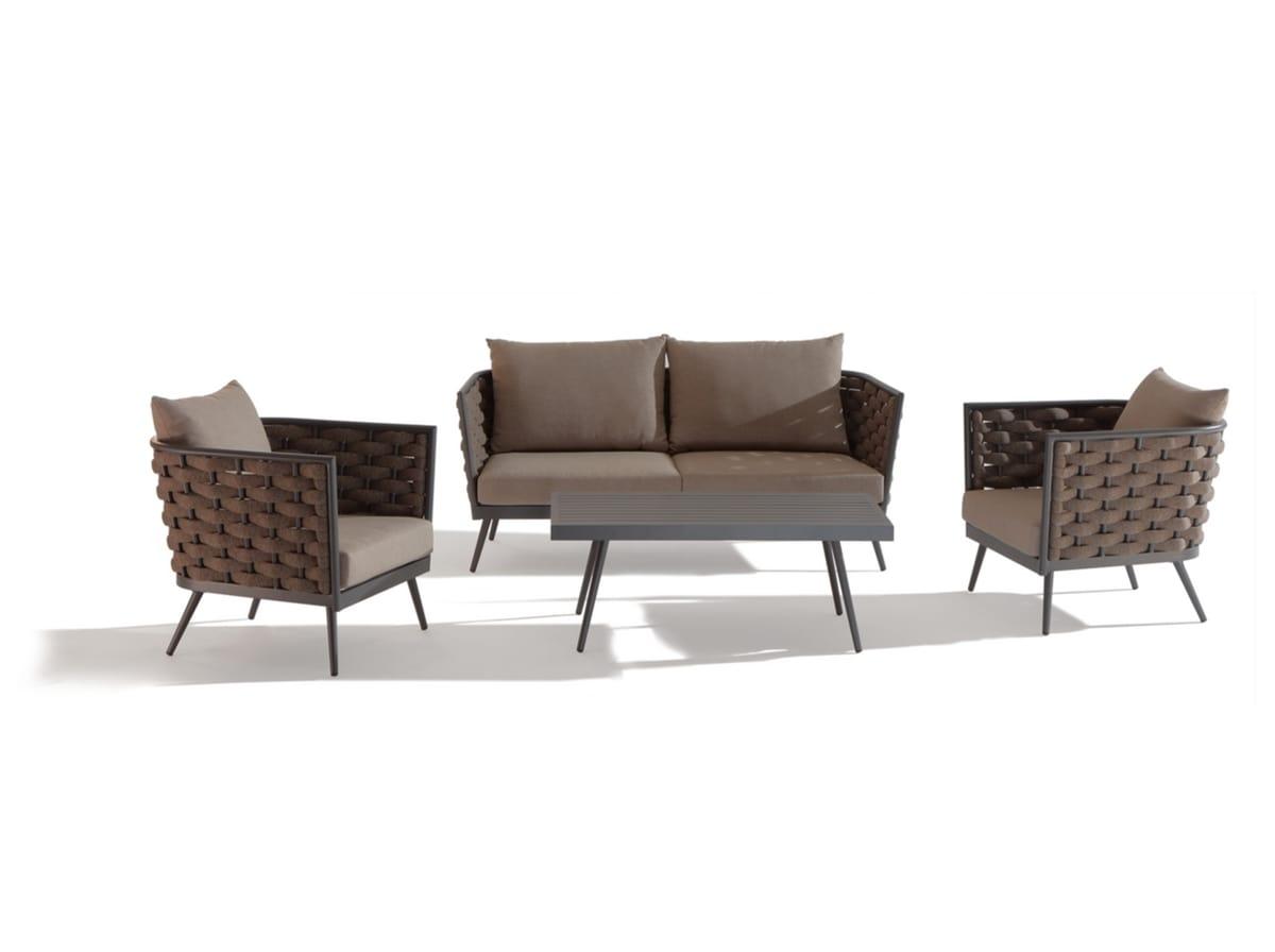 SET CAPPUCCINO, Set da giardino con divanetto e tavolo