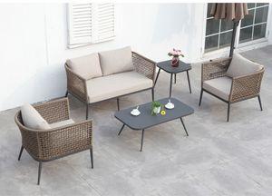SET CAYO LARGO, Set da giardino in alluminio e rete