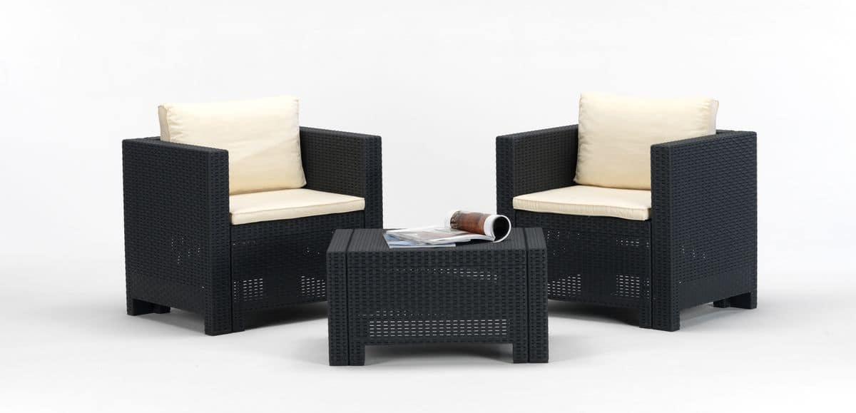 Set sedute ideali per giardino e esterni bar idfdesign for Arredo da giardino rattan