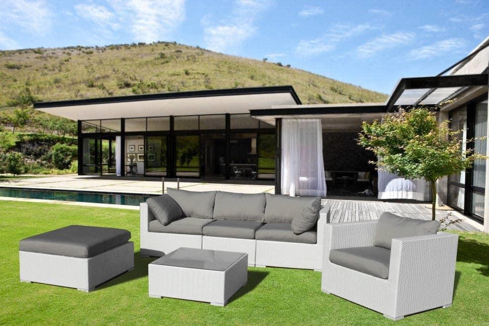 Set arredo per esterni divano e poltrone per giardino idfdesign