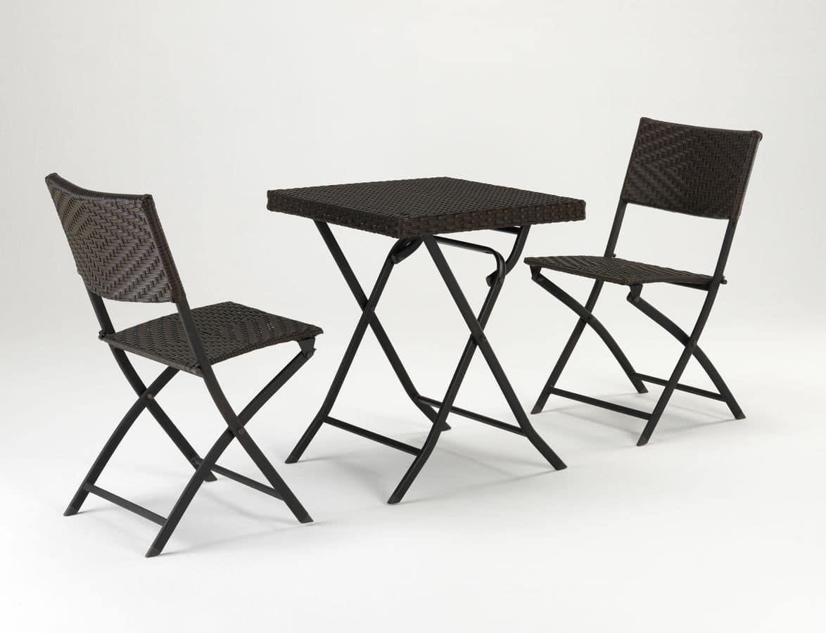 Set tavolino e sedie per esterno idfdesign - Sedie per esterno economiche ...
