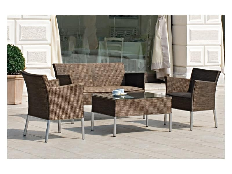 Surabaya lounge sedute e tavoli combinabili per esterno for Sedute da esterno