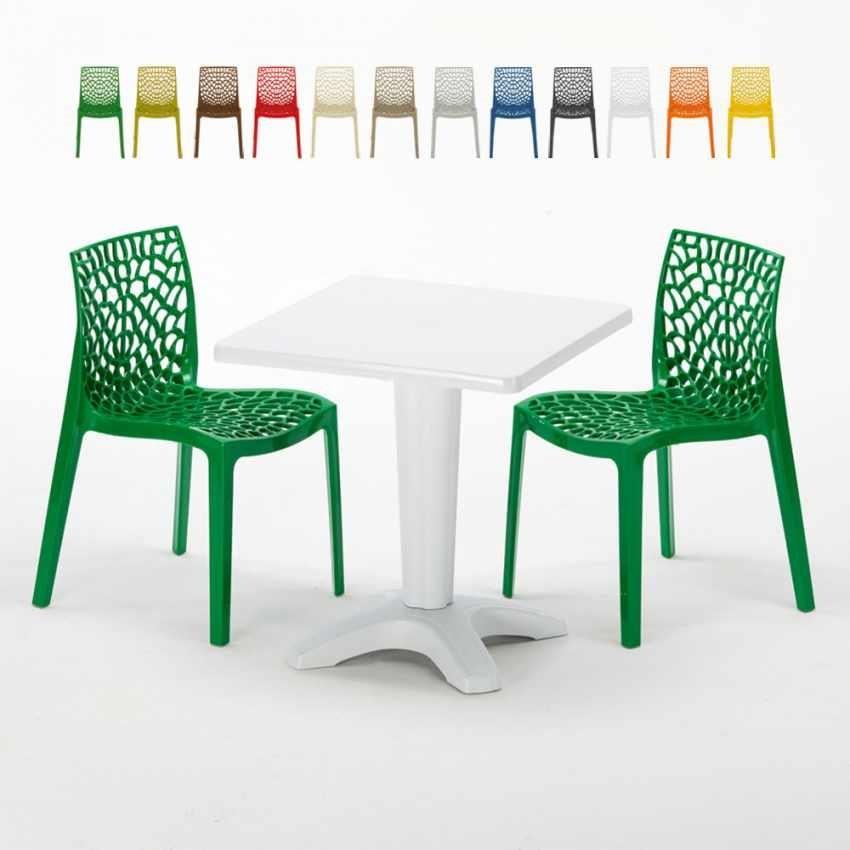 Sedie Da Esterno Colorate.Set Da Giardino Con Tavolino E Sedie Idfdesign