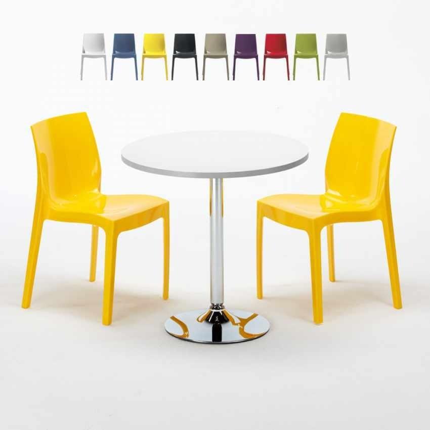 Sedie Da Giardino Colorate.Set Da Giardino Con Tavolino E Sedie Idfdesign