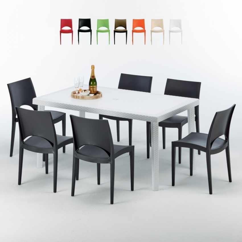 Set da giardino con tavolo e 6 sedie | IDFdesign