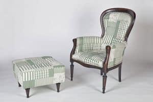 Art. 588, Pouf classico rivestito in puro cotone, in vari colori