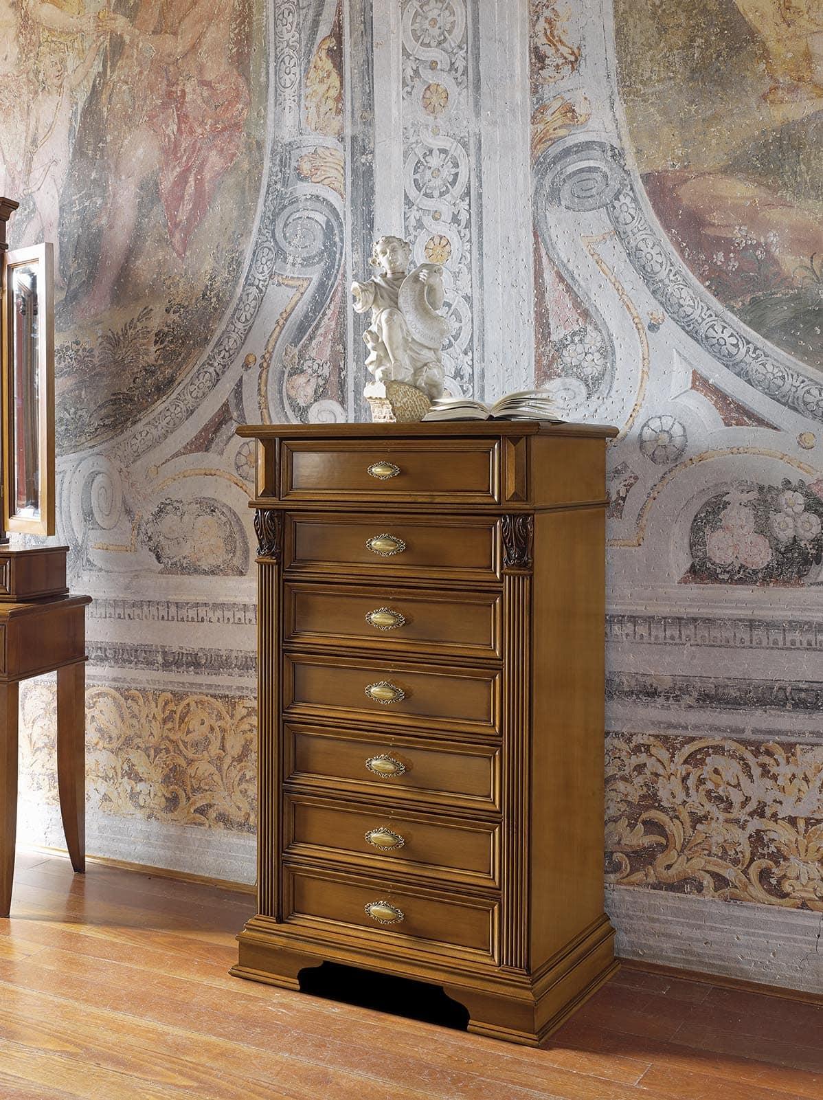 Settimino in legno in stile classico per camere da letto - Camere da letto stile classico ...