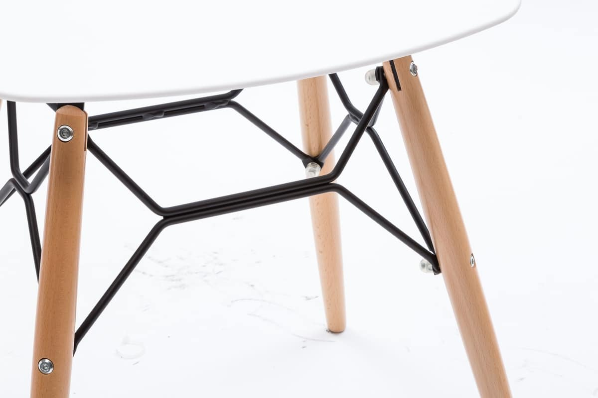 Sgabello basso con sedile in polipropilene bianco idfdesign