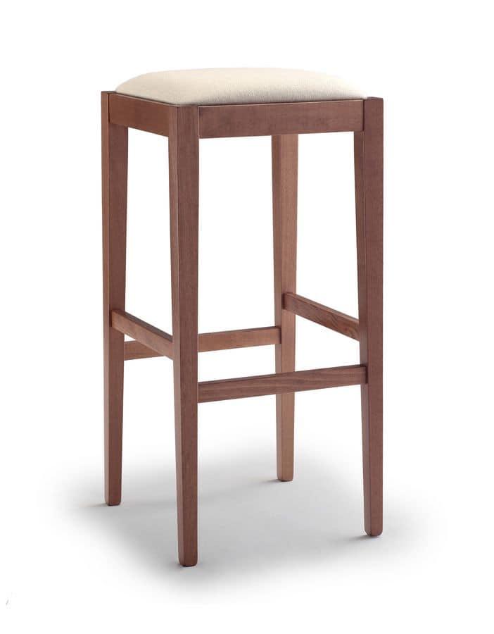 252 bis, Sgabello da bar senza schienale con seduta imbottita