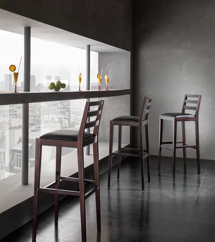 Ashli sgabello 8608b sgabelli moderni seduta imbottita - Sgabelli cucina in legno ...