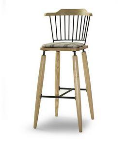 CG 958085 SG, Sgabello in legno con seduta imbottita