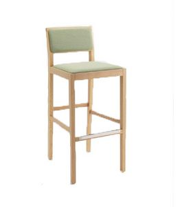 ER 440022, Sgabello moderno in legno, con seduta imbottita