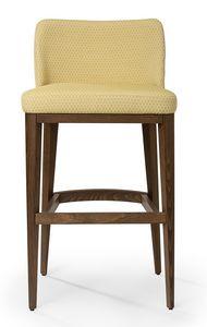 Katel stool A, Sgabello imbottito con schienale basso