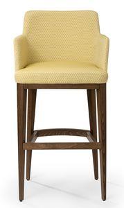 Katel stool ARMS, Sgabello moderno con braccioli