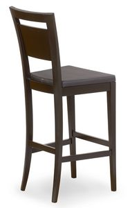 Lory stool, Sgabello in legno con seduta imbottita