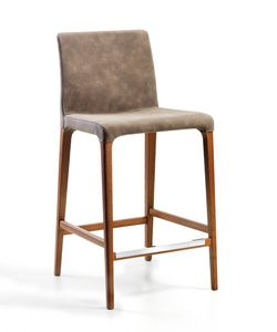 Marostica sgabello, Sgabello moderno, con gambe in frassino