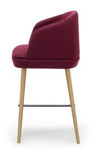 Noemi stool ARMS, Sgabello moderno con scocca avvolgente