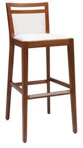 SG 4472 / CI, Sgabello imbottito in legno, con varie finiture, per bar