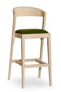 Zanna stool, Sgabello moderno in legno