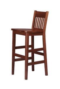 R11SG, Sgabello in legno di faggio, per enoteche e ristoranti