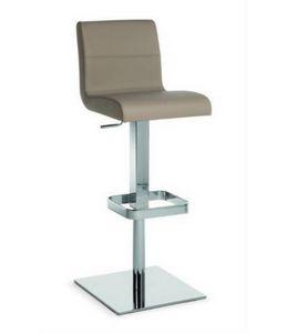 Flexa SG, Sgabello in metallo con seduta e schienale imbottiti